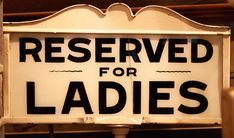 Ladies only!