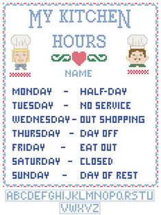 My Kitchen Hours    hahaha