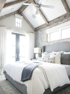 Looking for Transitional Bedroom and Master Bedroom ideas? Browse Transitional Bedroom and Master Bedroom images for decor, layout, furniture, and storage inspiration from HGTV. Small Master Bedroom, Master Bedroom Design, Dream Bedroom, Home Decor Bedroom, Master Bedrooms, Bedroom Ceiling, Bedroom Wall, Bedroom Interiors, Bedroom Furniture
