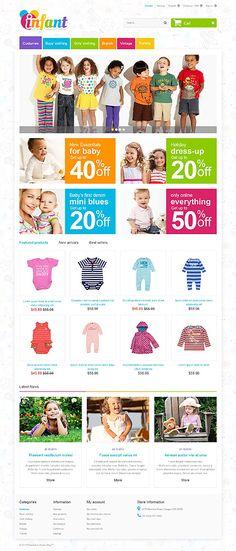 Template 55246 - Infant Baby  Responsive PrestaShop  Theme