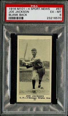 Joe Jackson 1916 Sporting News card part of an amazing find coming to auction.