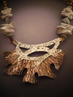 Blooms with in the Rafters Necklace by Allison L Norfleet Bruenger Collections