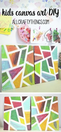 Kids Canvas Art DIY - all crafty things