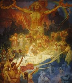 The Slav Epic #20:  The Apotheosis of the Slavs, Slavs for Humanity by Alphonse Mucha