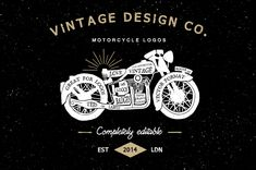 Expert designer and illustrator Ian Barnard of Vintage Design Co has donated more fantastic resources for Access All Areas members. This pack of vintage motorcycle logos contains 6 customisable logo templates that allow you to quickly create a cool identity for your personal branding or retro t-shirt designs. They're all brilliantly designed with a hand …