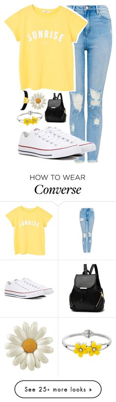 """Mosquito bites in Autumn "" by thekaylabella on Polyvore featuring MANGO, Converse and Kenneth Jay Lane"