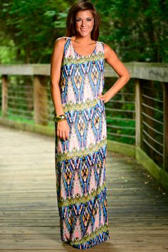 Our favorite part of this amazing maxi is the low-slung lace back, no doubt! And the super light, heat-beating summer material is a plus, too!
