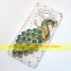 Barato 1 Pcs Handmade Bling Peacock limpar Hard case voltar para Samsung  Galaxy grande Prime G530H 81c2e0d6e709