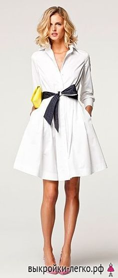 Платье-рубашка. Инструкция по распечатке выкроек и пошиву | Выкройки онлайн и уроки моделирования