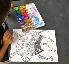 Zilker Elementary Art Class: Second Grade: Where the Wild Things Are Line Texture, Texture Art, 2nd Grade Art, Second Grade, Art Cart, Enrichment Activities, Craft Club, Teaching Art, Art School