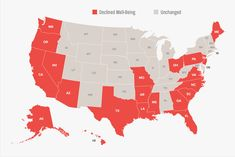 States that Declined in Well-Being in 2017