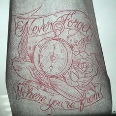 #neverforgetwhereyoucomefrom #tattoo #compass beautiful, except the rose maybe a…