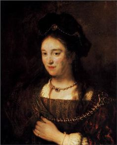 Saskia, the Artist's Wife - Rembrandt