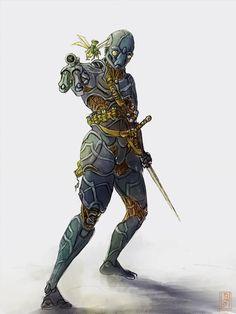 warforged artifacer by WanderingInPixels