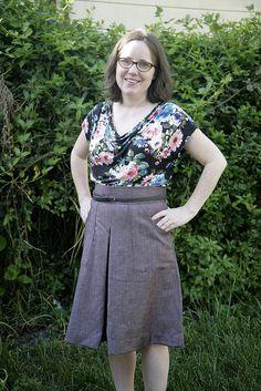 Lisette B6182 A-line skirt sewing pattern!