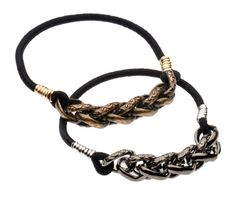 """These Braid Black Ties are a great collection of """"the elastic all dressed up."""" Hair tie meets fashionable bracelet for the ultimate women's fashion accessory."""