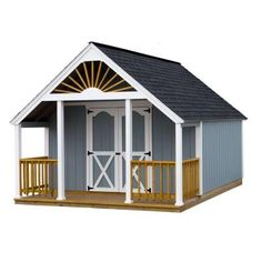 Garden Shed 12 Ft. X 12 Ft. Wood Storage Shed Kit And 4 Ft. Porch With Floor…