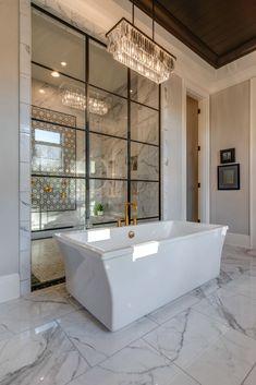 Caroline - Sailer Design Dream Bathrooms, Beautiful Bathrooms, Luxurious Bathrooms, Spa Bathrooms, Glamorous Bathroom, White Bathrooms, Bathroom Black, Small Bathroom, Bathroom Design Luxury