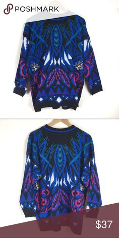 0e2db25eb74 Vintage International Venezia Sportswear sweater Oversized and colorful  vintage sweater Vintage Sweaters Crew   Scoop Necks