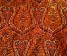 Weekend Round Up - Quintessence Pierre Frey, Weekend Update, Orange Wallpaper, Indian Textiles, Arabian Nights, Saturated Color, Surface Pattern, Chinoiserie, Vintage Art