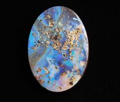 Boulder Opal by mrs. Raw Gemstones, Minerals And Gemstones, Rocks And Minerals, Cool Rocks, Beautiful Rocks, Mineral Stone, Rocks And Gems, Stones And Crystals, Australian Opal