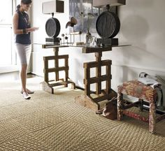 Traditionally, the important things to aspire to in a home was wall-to-wall carpet. And also while wall-to-wall is definitely comfy as well as brings with it a number of benefits, as trends have . Read Best Carpet Tiles Ideas for Your Dream House Hallway Carpet Runners, Cheap Carpet Runners, Stair Runners, Sisal, Room Rugs, Rugs In Living Room, Living Roon, Living Spaces, Carpet Squares
