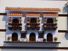 Balcones Colombianos Colonial, Miniature Houses, Beautiful Crochet, Diy Art, Diorama, Ideas Para, Projects To Try, Miniatures, Diy Crafts