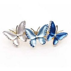 What could be more perfect than Blue Butterflies. These are on my wish list. (Austrian Crystal Barrette $12.99)