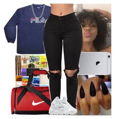"""Untitled #771"" by msixo ❤ liked on Polyvore featuring Fila, NIKE and Sterling Essentials"