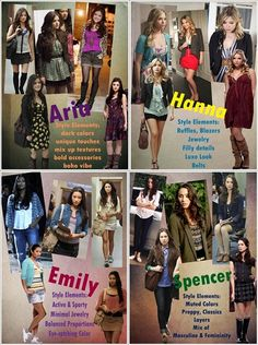 I like Aria and Hanna's styles mixed together
