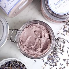 Handmade Item Made To Order Usually clay masks are designed for oily skin. Because clay absorbs oil, it's a natural fit. This Lavender Clay Face Mask was specifically formulated for dry and sensitive skin. Face Scrub Homemade, Homemade Face Masks, Homemade Facials, Homemade Beauty, Coffee Face Scrub, Avocado Face Mask, Charcoal Face Mask, Diy Kleidung, Clay Face Mask