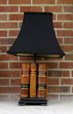 Lamp Made from Antique Law Books
