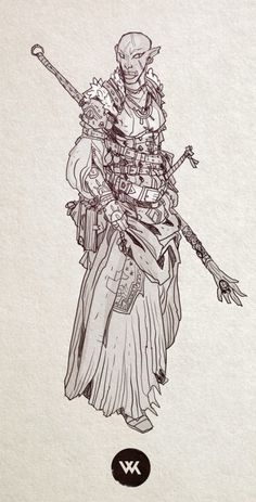 a quick half orc mage doodle.