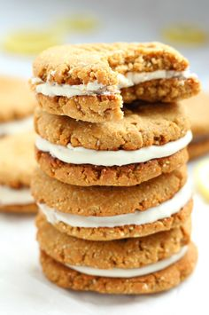 Lemon Coconut Cream Sandwich Cookies - gluten free, grain free, dairy free and…
