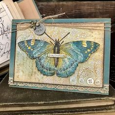 Stampin Up, Tim Holtz Stamps, Stampers Anonymous, Butterfly Cards, Outdoor Art, Distress Ink, Animal Quotes, Diy Cards, Handmade Cards