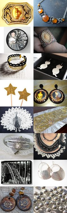 Silver and Gold by Laura P. on Etsy--Pinned with TreasuryPin.com