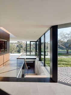 escalier sous-sol - Oak Pass Main House par Walker Workshop - Los Angeles, Usa