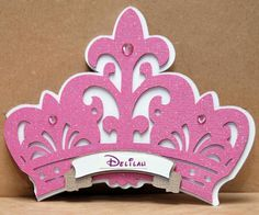 Princess Crown Invitation by Bloominkards on Etsy, $32.00