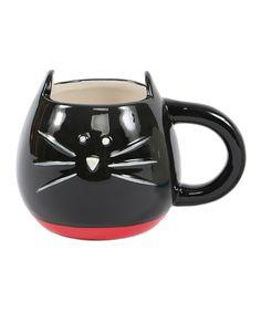 Black Cat Face Mug #zulily!