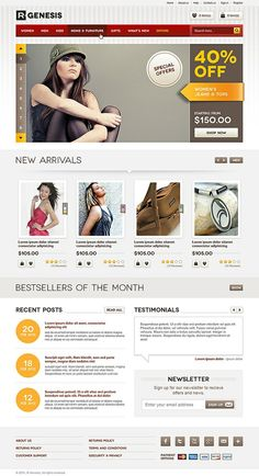Ecommerce web design layout