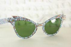 50s Sunglasses 60s Glitter Sun Glass Frames by THAYEReyewear, $129.00