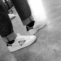 Adidas Stan Smith Diamond custom by SlashCustomSneakers on Etsy