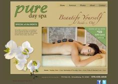 770 Main St, Stroudsburg, PA 18360  www.puredayspainc.com  (570) 420-1818     Creating a spa experience that invigorates and restores balance and energy to the mind, body, and soul. With all the pressures and stresses in today's lifestyle, you can relax in our spa and enjoy being pampered by our staff. Call us today for your appointment