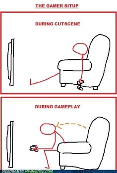 Gamer Situp - see? We get a workout. =P
