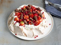 Frisk, Pavlova, Cheesecake, Strawberry, Food And Drink, Sweets, Baking, Sweet Pastries, Bread Making