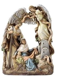 Holy Family W/arch and Angel Figure Nativity Set by Joseph Studio, Send Christmas Cards, Holiday Photo Cards, Christmas Nativity Scene, Christmas Love, Christmas Crafts, Nativity Silhouette, Catholic Company, Christian Christmas, Holy Family