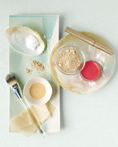 To make makeup last -- and stay in place -- layer on cosmetics; use eye shadow primer before brushing on neutral-colored shadows, and apply a cream blush, then top it with a similar shade of a powder. Use foundation only where you need it -- like on blemishes or the red areas around your nose and chin. Then finish with a light dusting of powder.