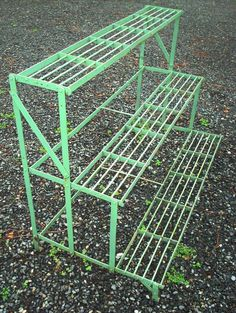 PLANT STAND, WROUGHT IRON, 3 TIER, ANTIQUE