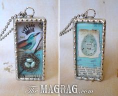 The Mag Rag: BIRD NEST SHADOWBOXES front and back