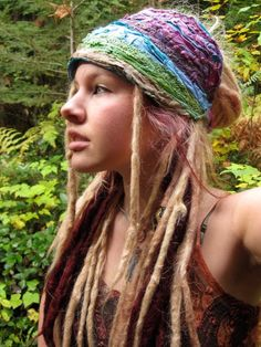 "They Said : White chicks with dreds...hate 'em  Dred  says .... ""if all you see is white, you ain't seein right !"" Hail Rasta..."